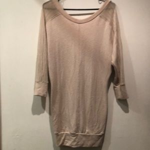 Sparkle and Fade Tan Sweater Dress
